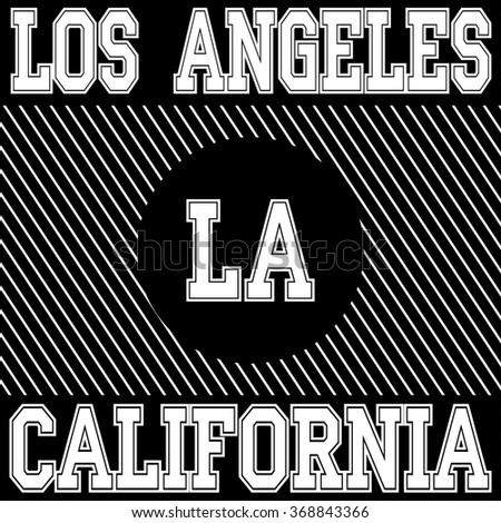 Los angeles typography, t-shirt graphics