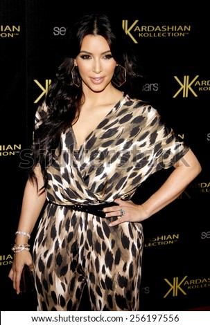 LOS ANGELES, USA - AUGUST 17: Kim Kardashian at the Kardashian Kollection Launch Party held at the Colony in Hollywood, USA on August 17, 2011. - stock photo