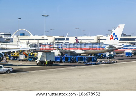 Lax Airport Stock Images RoyaltyFree Images Vectors Shutterstock - Biggest airport in usa