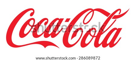 LOS ANGELES , USA - JUNE 10, 2015 Illustration of Coca-Cola logo on white Background. Coca Cola is the most popular carbonated soft drink beverages sold around the world