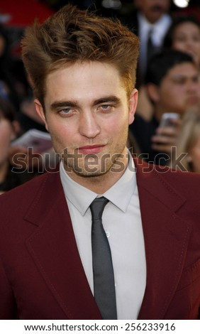 "LOS ANGELES, USA - JUNE 24: Robert Pattinson at the Los Angeles Premiere of ""The Twilight Saga: Eclipse"" held at the Nokia LA Live Theater in Los Angeles, USA on June 24, 2010. - stock photo"