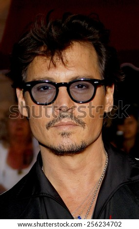"""LOS ANGELES, USA - MAY 7: Johnny Depp at the Los Angeles Premiere of """"Pirates Of The Caribbean: On Stranger Tides"""" held at the Disneyland in Anaheim, USA on May 7, 2011. - stock photo"""