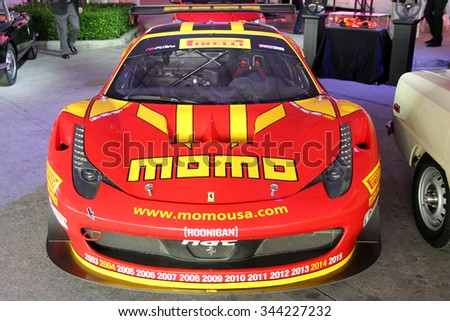 Los-Angeles, USA - Nov 18, 2015: Ferrari 458 GT3 at the LA Auto Show on Nov 18, 2015 in LA, California