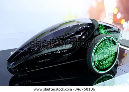 Los-Angeles, USA - Nov 18, 2015: Toyota FV2 car of the future at the LA Auto Show on Nov 18, 2015 in LA, California - stock photo