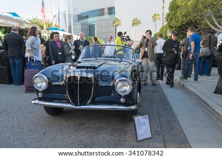 Los Angeles, USA - November 18, 2015:  Lancia Aurelia B24S 1958 car on display during the 2015 Los Angeles Auto Show.