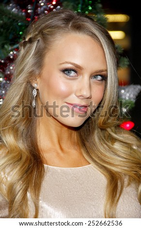 """LOS ANGELES, USA - NOVEMBER 2: Melissa Ordway at the Los Angeles Premiere of """"A Very Harold & Kumar 3D Christmas"""" held at Grauman's Chinese Theater in Hollywood, USA on November 2, 2011. - stock photo"""