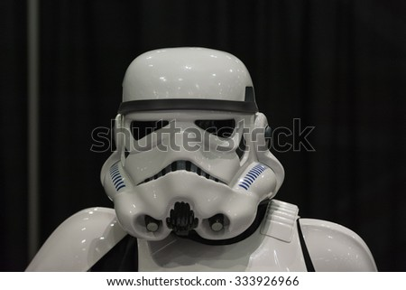 Los Angeles - USA - October 31, 2015: Star Wars Storm Trooper during Comikaze Expo at the Los Angeles Convention Center. - stock photo