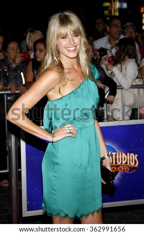 "LOS ANGELES, USA - Sarah Wright at the Los Angeles Premiere of ""The Thing"" held at the Universal Studios Hollywood in Hollywood, USA on October 10, 2011. - stock photo"