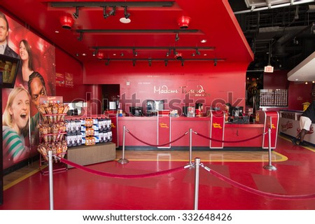 LOS ANGELES, USA - SEP 28, 2015: Interior of the Madame Tussauds Hollywood wax museum. Marie Tussaud was born as Marie Grosholtz in 1761