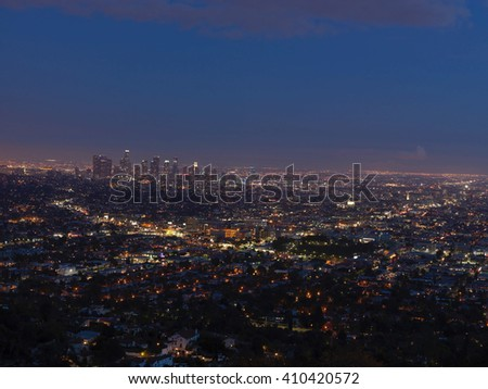 Los Angeles view from Griffith Observatory