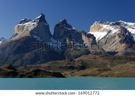 Los Cuernos massif in Torrel del Paine national park, Chile