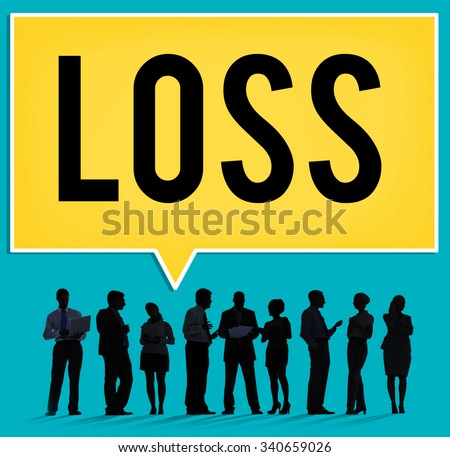 Loss Deduct Recession Debt Finance Bankruptcy Cocept - stock photo