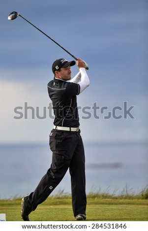 LOSSIEMOUTH, MORAY, SCOTLAND - 29 MAY: This is a participant within the Carrick Neill Scottish Open Stroke Play Championship on Friday 29 May 2015 at Moray Golf Club, Lossiemouth, Moray, Scotland.