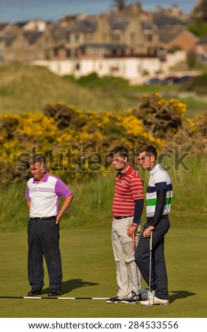 LOSSIEMOUTH, MORAY, SCOTLAND - 30 MAY: This is a participant within the Carrick Neill Scottish Open Stroke Play Championship on Saturday 30 May 2015 at Moray Golf Club, Lossiemouth, Moray, Scotland.