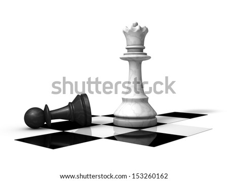 Lost chess piece - stock photo