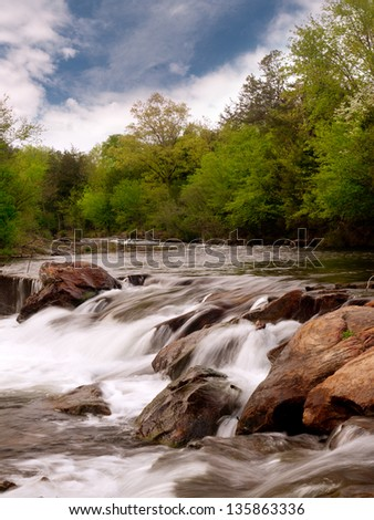 Lost creek fishing area. Beaver's Bend State Park, Oklahoma. - stock photo