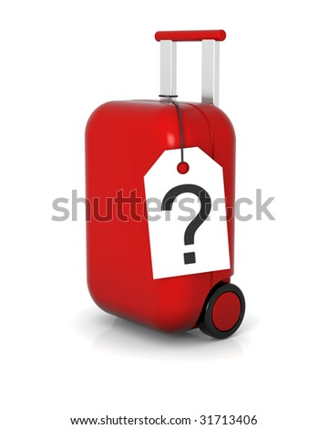 Lost hard trolley case without identification - stock photo