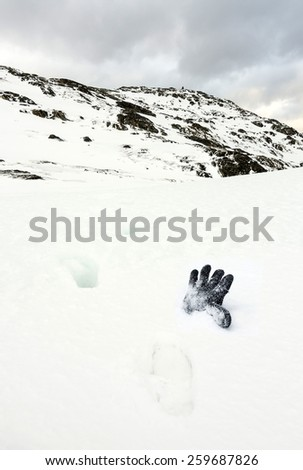 Lost in the mountains - stock photo