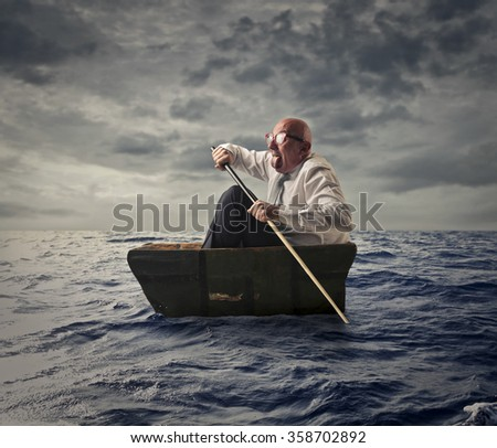 Lost in the seaside - stock photo