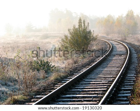 lost railway - stock photo