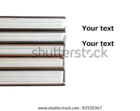 Lot of books on white - stock photo