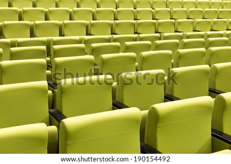 Lot of empty seats in the theater - stock photo