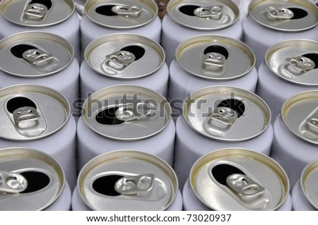 Lots of beer cans - stock photo