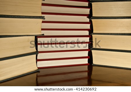 Lots of books at the library. - stock photo