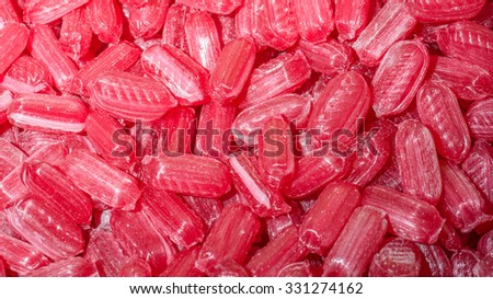 Lots of caramel sweets - stock photo