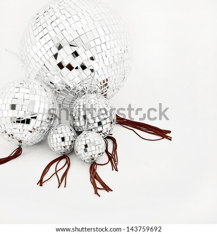 lots of disco balls - stock photo