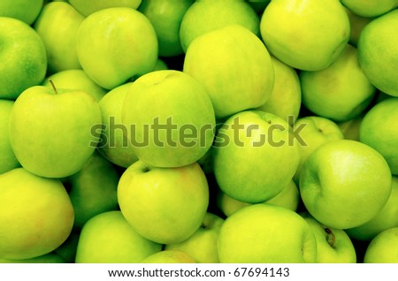 Lots of Green ripe apples background