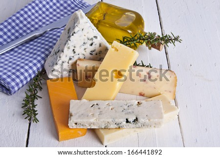 lots of natural cheese, dairy