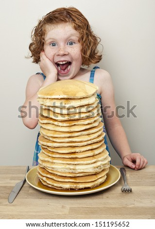 Lots of Pancakes!! - stock photo