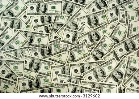 lots of real money background - one hundred dollars