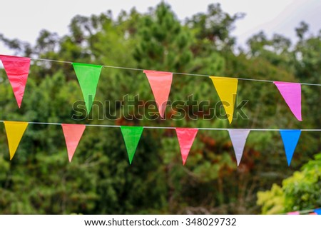 Lots of small color flags - stock photo