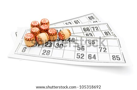 Lotto. On a white background. - stock photo