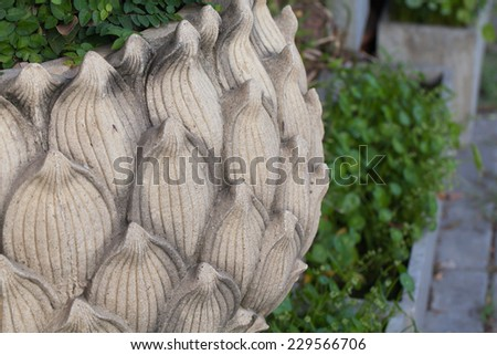Lotus leaf made by cement - stock photo