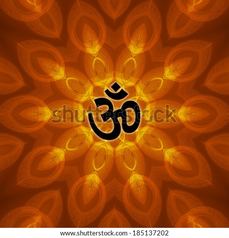 Lotus Om Design Background - stock photo