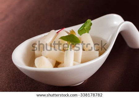 lotus root,chinese dish - stock photo