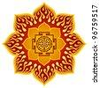 Lotus Sri Yantra Design - stock vector