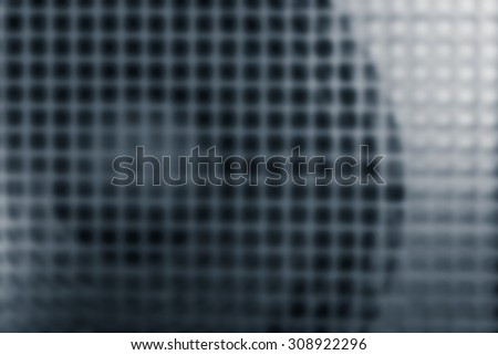 loudspeaker and grille, as abstract blur background of Power Amplifier - stock photo