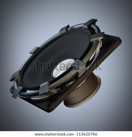 Loudspeaker High resolution 3d render