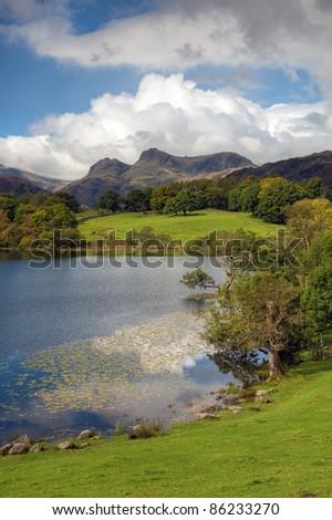 Loughrigg Tarn, Cumbria - stock photo