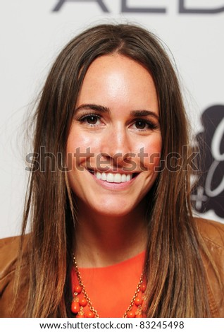 Louise Roe arriving for the Aldo Launch Party, One Marylebone London. 21/06/2011 Picture by: Simon Burchell / Featureflash