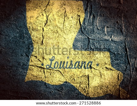 louisiana concrete stucco textured outline map