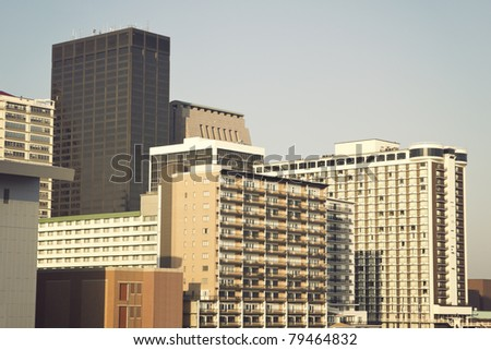 Louisville, Kentucky buildings seen in the morning - stock photo