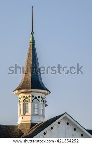 LOUISVILLE KENTUCKY, USA - MAY 15, 2016. Spire at Churchill Downs home of the Kentucky Derby. - stock photo
