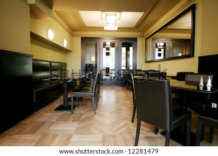 Lounge at the restaurant waiting for clients - stock photo