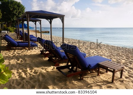 Lounge Chair at Paynes Bay beach in Barbados