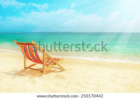 Lounge chair n the beach